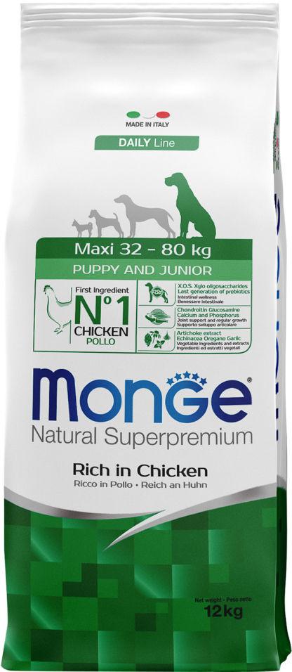 Отзывы о Корме для щенков Monge Dog Maxi для крупных пород 12кг