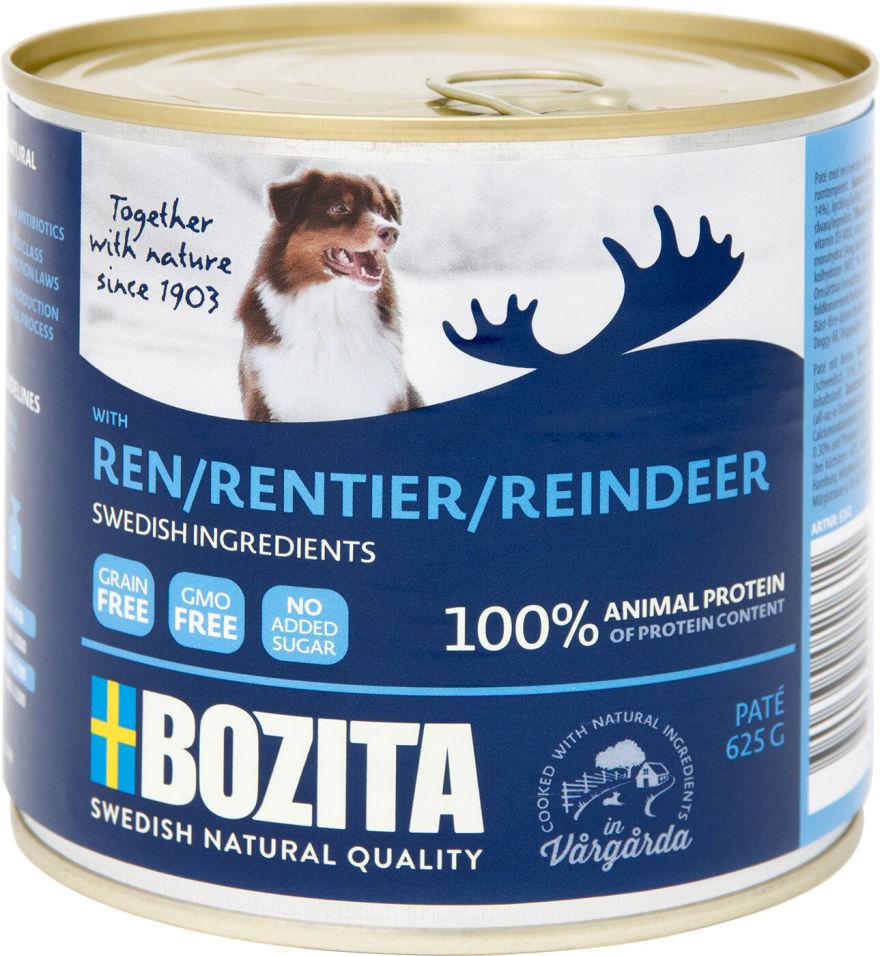 Корм для собак Bozita Reindeer мясной паштет с оленем 625г