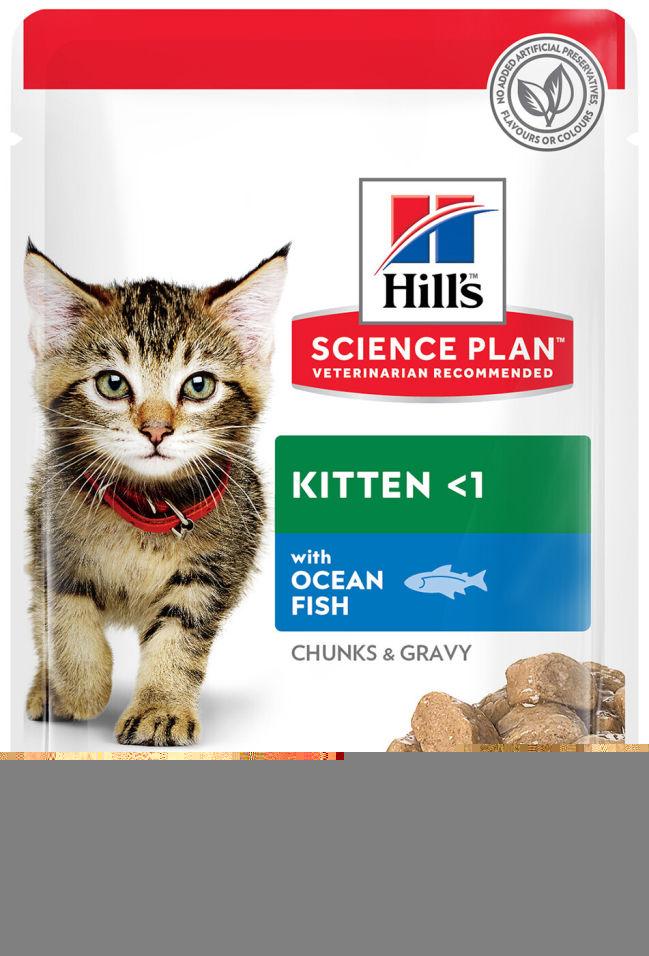 Отзывы о Влажном корме для котят Hills Science Plan Kitten с океанической рыбой 85г