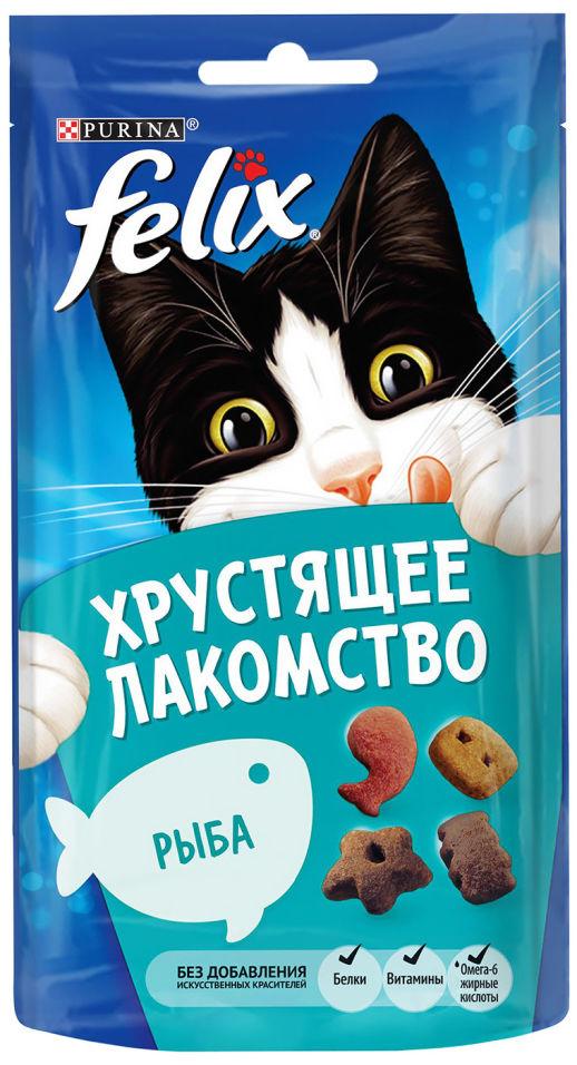 Хрустящее лакомство для кошек Felix с рыбой 60г