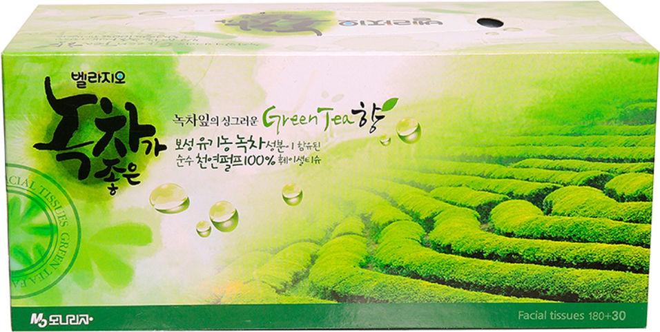Отзывы о Салфетки Bellagio Зеленый чай для лица 2 слоя 210шт