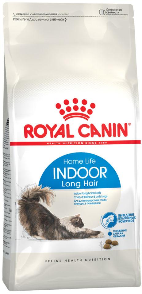 Сухой корм для кошек Royal Canin Indoor Long Hair Птица 2кг