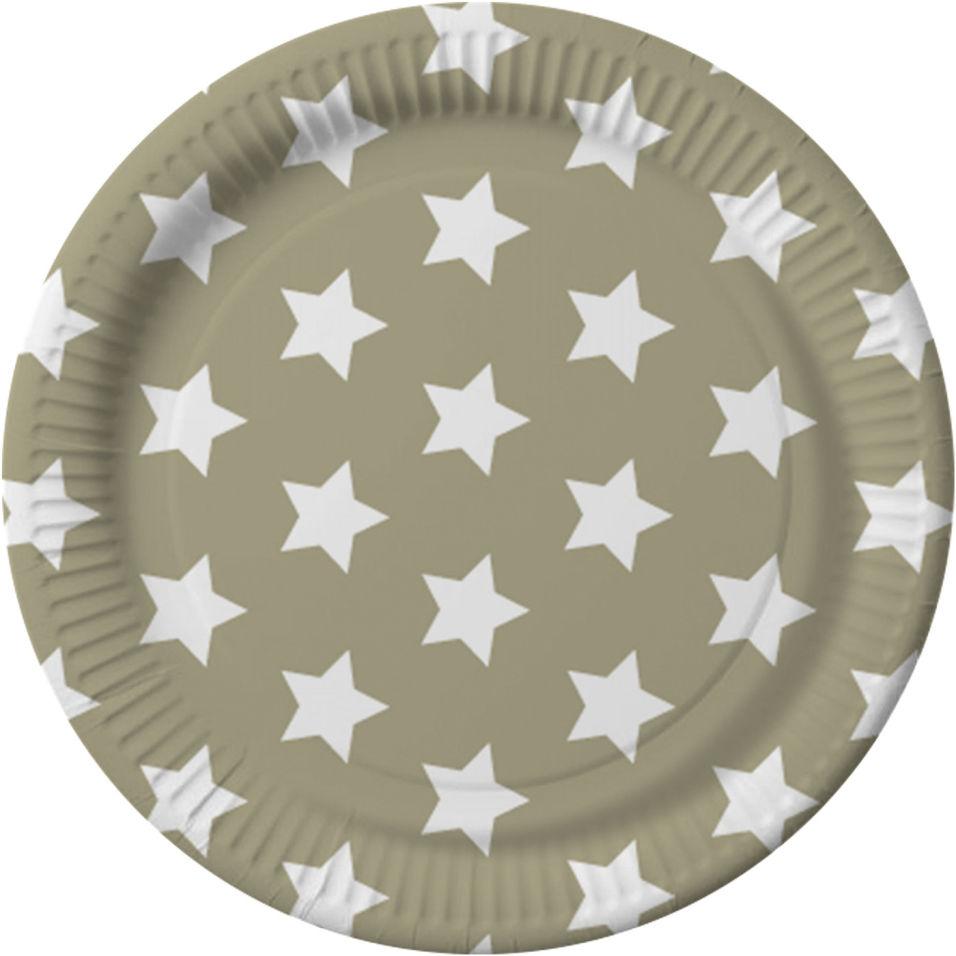 Тарелки бумажные Gratias Звезды d23 6шт