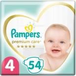 Подгузники Pampers Premium Care 9-14кг Размер 4 54шт