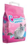 Наполнитель для кошачьего туалета Счастливые Лапки комкующийся 3кг