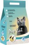 Наполнитель для кошачьего туалета Pro Cat Vanilla комкующийся из экстра белой глины 6кг