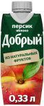 Нектар Добрый Персик-яблоко 330мл
