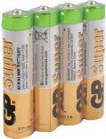 Батарейки GP Super 24A RS-2SB4 ААА 1.5В 4шт