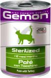 Корм для кошек Gemon Cat Sterilised для стерилизованных кошек паштет индейка 400г