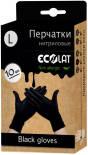 Перчатки EcoLat нитриловые черные размер L 10шт
