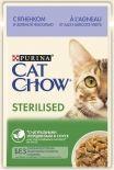 Корм для кошек Cat Chow Sterilised Ягненок и Зеленая фасоль в соусе 85г