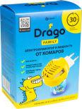Комплект от комаров Drago Family Электрофумигатор и Жидкость 30мл