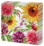 Салфетки бумажные Gratias Цветы в саду 33*33см 3 слоя 20шт