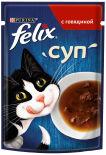 Корм для кошек Felix Суп с говядиной 48г