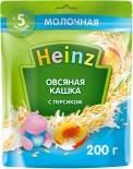 Каша Heinz Овсяная молочная с персиком с Омега 3 200г