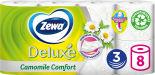 Туалетная бумага Zewa Deluxe Ромашка 8 рулонов 3 слоя