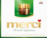 Набор шоколадных конфет Merci Ассорти 4 вида шоколада с миндалем 250г