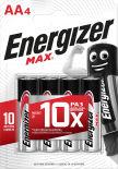 Батарейки Energizer Max + Power Seal AA 4шт