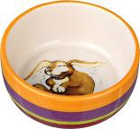 Миска для кроликов Trixie керамическая кремовая 11см 250мл