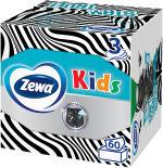 Салфетки бумажные Zewa Kids 3D Box для лица 3 слоя 60шт
