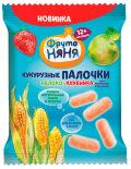 Палочки кукурузные ФрутоНяня Яблоко клубника 20г