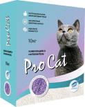 Наполнитель для кошачьего туалета Pro Cat Lavanda комкующийся из экстра белой глины 10кг
