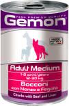Корм для собак Gemon Dog Medium для средних пород кусочки говядины с печенью 415г