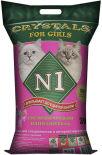 Наполнитель для кошачьего туалета №1 Crystals for girl розовый 30л