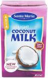 Напиток Santa Maria Light coconut milk из мяготи кокоса 8% 250мл