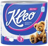 Туалетная бумага Kleo Ultra 4 рулона 3 слоя