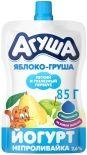 Йогурт Агуша Непроливайка Я Сам Яблоко-груша 2.7% 85г