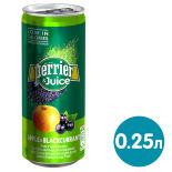 Напиток сокосодержащий Perrier Яблоко черная смородина 250мл