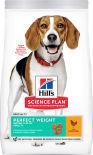 Сухой корм для собак Hills Science Plan Perfect Weight Medium для средних пород для поддержания оптимального веса с курицей 12кг