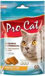 Лакомство для кошек Pro Cat Подушечки Здоровье и активность Курица и сыр 60г
