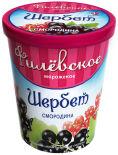 Мороженое Филевское Щербет Смородина 1% 275г