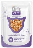 Влажный корм для котят Brit care Курица и сыр 80г