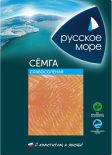 Семга Русское море слабосоленая филе-ломтики 120г