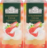 Чай черный Ahmad Tea Strawberry Cream 25 пак