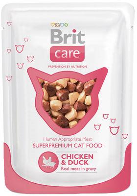 Корм для кошек Brit care Курица и утка 80г