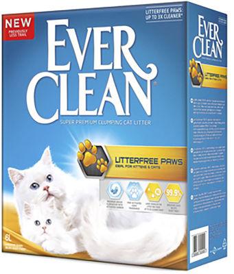Наполнитель для кошачьего туалета Ever Clean LitterFree Paws для идеально чистых лап 6л