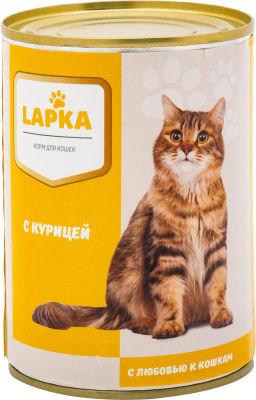 Корм для кошек Lapka с курицей в соусе 415г