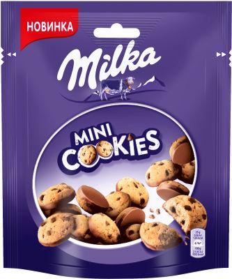 Печенье Milka Mini cookies с кусочками молочного шоколада 100г