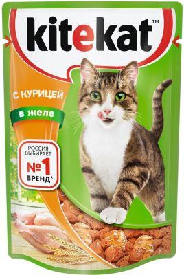 Корм для кошек Kitekat с курицей в желе 85г