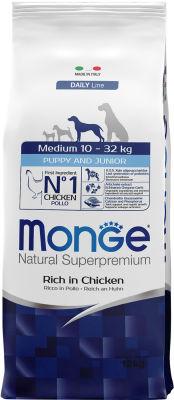 Корм для щенков Monge Dog Medium для средних пород 12кг