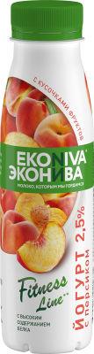 Йогурт питьевой ЭкоНива Fitness Line с персиком 2.5% 300г