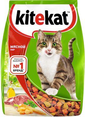 Сухой корм для кошек Kitekat Мясной Пир 1.9кг