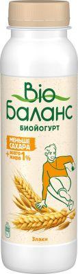 Биойогурт питьевой Bio Баланс со злаками 1% 270г