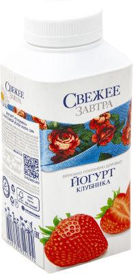 Йогурт питьевой Свежее Завтра Клубника 1.9% 330г