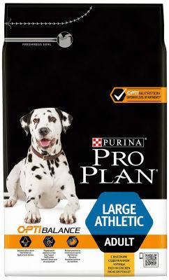 Сухой корм для собак Pro Plan Large Athletic Adult для крупных пород атлетического телосложения с курицей 3кг