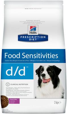 Сухой корм для собак Hills Prescription Diet d/d при пищевой аллергии с уткой 2кг